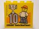 Part No: 30144pb199  Name: Brick 2 x 4 x 3 with Besuchermeister 10 Silver 2017 Legoland Deutschland Resort Pattern