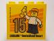Part No: 30144pb200  Name: Brick 2 x 4 x 3 with Besuchermeister 15 Gold 2017 Legoland Deutschland Resort Pattern