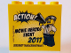 Part No: 30144pb211  Name: Brick 2 x 4 x 3 with Action! Movie Heroes Event 2017 LEGOLAND Deutschland Resort Pattern