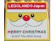 Part No: 30144pb224  Name: Brick 2 x 4 x 3 with Legoland Japan MERRY CHRISTMAS (Santa Face) Pattern