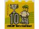 Part No: 30144pb230  Name: Brick 2 x 4 x 3 with Besuchermeister 10 Silver 2018 Legoland Deutschland Resort Pattern