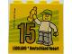 Part No: 30144pb231  Name: Brick 2 x 4 x 3 with Besuchermeister 15 Gold 2018 Legoland Deutschland Resort Pattern