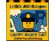 Part No: 30144pb241  Name: Brick 2 x 4 x 3 with Legoland Japan Police Minifig Happy Rainy Day Pattern