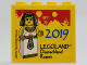 Part No: 30144pb261  Name: Brick 2 x 4 x 3 with '2019 LEGOLAND Deutschland Resort' and Egyptian Queen Pattern