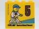 Part No: 30144pb268  Name: Brick 2 x 4 x 3 with Minifigure with Bronze Medal and '5', LEGOLAND Deutschland Resort 2019 Pattern