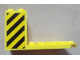 Part No: 30250pb02  Name: Cockpit 7 x 4 x 3 with Black and Yellow Danger Stripes Pattern on Both Sides (Stickers) - Set 7249