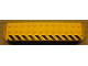 Part No: 30296pb02R  Name: Brick, Arch 2 x 14 x 2 1/3 with Black and Yellow Danger Stripes Pattern Model Right (Sticker) - Set 7900