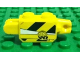 Part No: 30386pb02  Name: Hinge Brick 1 x 2 Locking with Black and Yellow Danger Stripes and 'WR' Logo Pattern on Both Sides (Stickers) - Set 8899