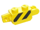 Part No: 30386pb05  Name: Hinge Brick 1 x 2 Locking with Black and Yellow Thin Danger Stripes, Yellow Corners Pattern on Both Sides (Stickers) - Set 60123