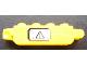 Part No: 30387pb001Lb  Name: Hinge Brick 1 x 4 Locking with Black Electricity Danger Sign on White Background Pattern Model Left Side (Sticker) - Set 7248