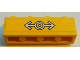 Part No: 30414pb02  Name: Brick, Modified 1 x 4 with 4 Studs on One Side with Train Logo White on Yellow Background Pattern (Sticker) - Set 7939