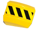 Part No: 30602pb069L  Name: Slope, Curved 2 x 2 Lip, No Studs with Black and Yellow Danger Stripes Pattern Model Left Side (Sticker) - Set 70814
