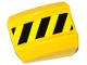 Part No: 30602pb069R  Name: Slope, Curved 2 x 2 Lip, No Studs with Black and Yellow Danger Stripes Pattern Model Right Side (Sticker) - Set 70814