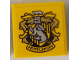 Part No: 3068bpb1229  Name: Tile 2 x 2 with Groove with Hufflepuff Crest Pattern (Sticker) - Set 71043