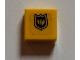 Part No: 3070bpb054  Name: Tile 1 x 1 with Black Fire Logo Badge Pattern (Sticker) - Set 7240