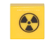 Part No: 3070bpb107  Name: Tile 1 x 1 with Radioactivity Warning Pattern (Sticker) - Set 75828