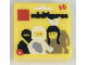 Part No: 3070bpb124  Name: Tile 1 x 1 with Groove with Series 1 Collectible Minifig Package Pattern