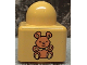 Part No: 31000pb05  Name: Primo Brick 1 x 1 with Medium Orange Teddy Bear Pattern on Two Sides