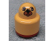 Part No: 31005pb10  Name: Primo Brick, Round Rattle 1 x 1 with Animal Face Pattern, with Red Base