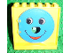 Part No: 31191c01  Name: Duplo Ball Tube exit with Blue Exit Door with Smiling Face Pattern