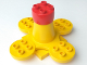 Part No: 31608c01  Name: Duplo Merry-Go-Round Type 2 with Red Cap and Four Seats, and 4 x 4 Base