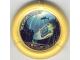 Part No: 32171pb027  Name: Throwbot Disk, Scuba / Sub, 4 pips, flying box and shark Pattern
