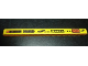 Part No: 32278pb004  Name: Technic, Liftarm 1 x 15 Thick with Racing Logos X Stream Left Pattern (Stickers) - Set 8146