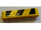 Part No: 32316pb015L  Name: Technic, Liftarm 1 x 5 Thick with Black and Yellow Danger Stripes Pattern Model Left Side (Sticker) - Set 8258