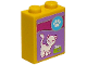 Part No: 3245cpb018  Name: Brick 1 x 2 x 2 with Inside Stud Holder with Paw Print, Cat and Food Bowl Pattern (Sticker) - Set 41007