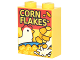 Part No: 3245cpb060  Name: Brick 1 x 2 x 2 with Inside Stud Holder with Cereal Box with Chicken and 'CORN FLAKES' Pattern