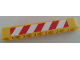 Part No: 32524pb026R  Name: Technic, Liftarm 1 x 7 Thick with Red and White Danger Stripes Pattern Model Right Side (Sticker) - Set 8053