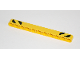 Part No: 32525pb020  Name: Technic, Liftarm 1 x 11 Thick with Black and Yellow Danger Stripes Pattern on Ends (Stickers) - Set 42035