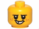 Part No: 33464pb03  Name: Minifigure, Baby / Toddler Head with Neck, Black Eyes, White Pupils, Freckles and Smile with Teeth Pattern
