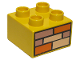 Part No: 3437pb005  Name: Duplo, Brick 2 x 2 with Orange, Sand Red, and Tan Bricks Pattern