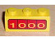 Part No: 3622pb006  Name: Brick 1 x 3 with '1000' on Red Bar Pattern on Both Sides