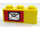 Part No: 3622pb024L  Name: Brick 1 x 3 with Mail Envelope Pattern Left (Sticker) - Set 7732