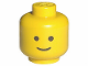 Part No: 3626ap01  Name: Minifig, Head Standard Grin Pattern - Solid Stud