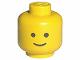 Part No: 3626ap01  Name: Minifigure, Head Standard Grin Pattern - Solid Stud