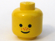 Part No: 3626apx124  Name: Minifigure, Head Standard Grin and Red Nose Freckles Pattern - Solid Stud