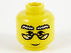 Part No: 3626bpb0003  Name: Minifigure, Head Glasses with HP Dumbledore Pattern - Blocked Open Stud