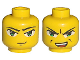 Part No: 3626bpb0017  Name: Minifigure, Head Dual Sided Exo-Force Green Eyes with Smirk / Open Mouth Angry Pattern (Ha-Ya-To) - Blocked Open Stud