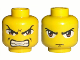 Part No: 3626bpb0026  Name: Minifigure, Head Dual Sided Exo-Force Brown Eyes, Scowl with Mouth Closed / Bared Teeth Pattern (Ryo Gate Guard) - Blocked Open Stud