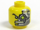 Part No: 3626bpb0298  Name: Minifigure, Head Alien with Cyborg Eyepiece, Eyebrow Right Side Pattern - Blocked Open Stud