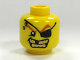 Part No: 3626bpb0301  Name: Minifigure, Head Male Eyepatch, Gold Teeth, Missing Tooth Pattern - Blocked Open Stud