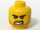 Part No: 3626bpb0312  Name: Minifigure, Head Beard Stubble, Brown Eyebrows, Bared Teeth, White Pupils Pattern - Blocked Open Stud