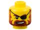 Part No: 3626bpb0323  Name: Minifigure, Head Beard Red-Brown, Sneer, Eyepatch Pattern - Blocked Open Stud