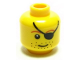 Part No: 3626bpb0325  Name: Minifigure, Head Male Eyepatch, Brown Eyebrows, Stubble Pattern - Blocked Open Stud