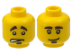 Part No: 3626bpb0363  Name: Minifigure, Head Dual Sided Bushy Eyebrows and Goatee / Worried Pattern - Blocked Open Stud