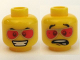 Part No: 3626bpb0364  Name: Minifigure, Head Dual Sided Red Sunglasses and Grin / Scared Pattern - Blocked Open Stud