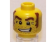 Part No: 3626bpb0425  Name: Minifigure, Head Male Stubble, Brown Eyebrows and Sideburns, White Pupils Pattern - Blocked Open Stud